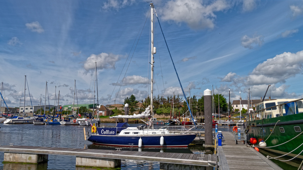 Callisto on her new berth in Lowestoft - Voyage completed!