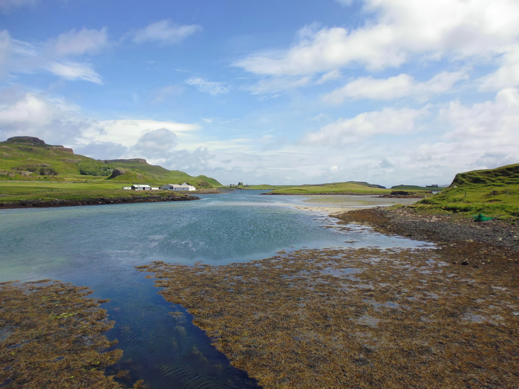 Isle of Canna on the left, Isle of Sanday on the right