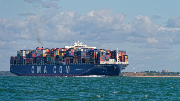 Huge Container Ship in the Solent