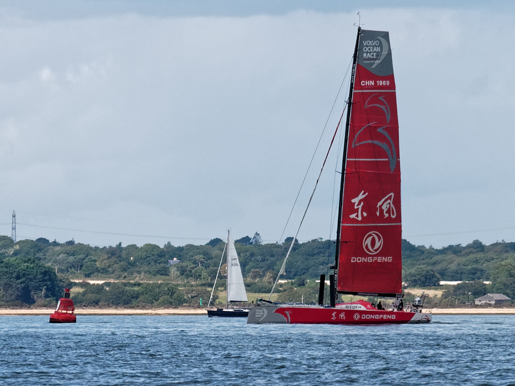 We meet the Volvo 65 racing yacht Dongfeng in the Solent