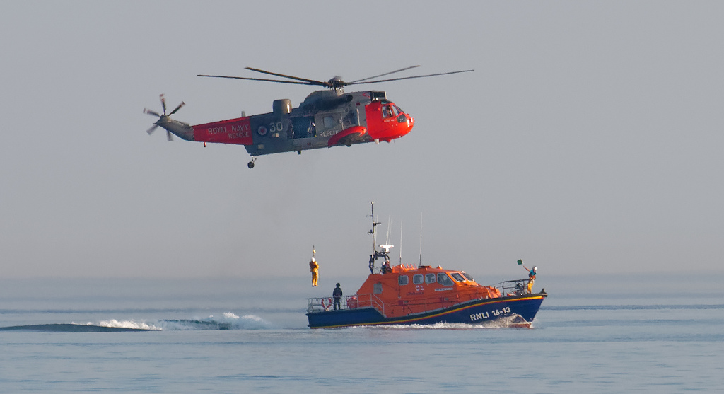Helicopter Lifeboat Rescue Portpatrick